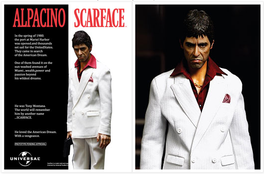 "One of Blitzway's collectible toys for ""Scarface."""