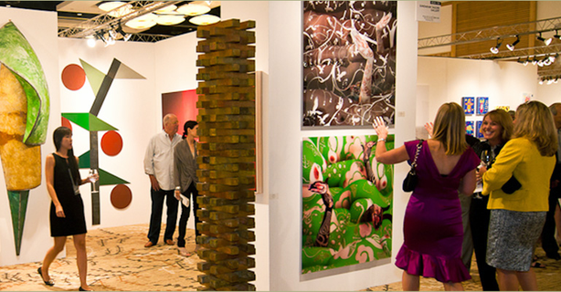 Guests engage in artful discussion at the 2010 Art San Diego Contemporary Art Fair.