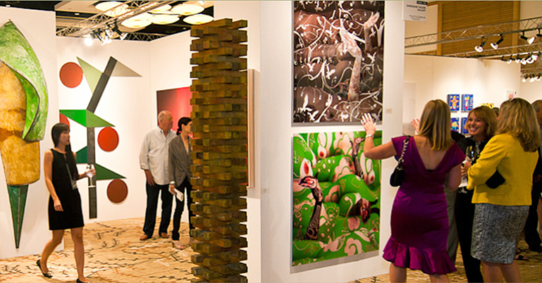 Guests engage in artful discussion at the 2010 Art San Diego Contemporary Art...