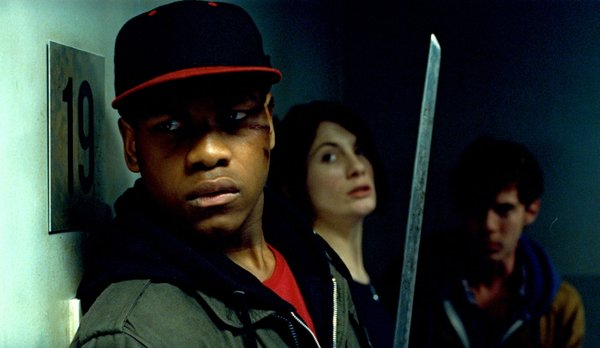 "John Boyega and Jodie Whitaker in ""Attack the Block."""