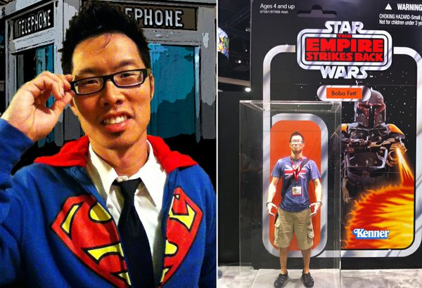Tony Kim in various stages of his geekdom.
