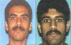 Khalid al-Mihdhar (left) and Nawaf al-Hazmi flew an American Airlines jet into the Pentagon on September 11, 2001. Before that, they lived in San Diego.
