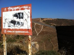 A view of Smugglers' Gulch, on the Mexican side of the San Diego-Tijuana bord...