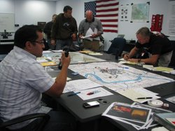 First responders at an Emergency Response Training in San Diego funded by Hom...