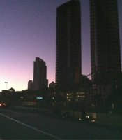 Downtown San Diego during the massive power outage on Sept. 8, 2011.