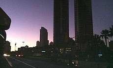 Downtown San Diego during the massive power out...