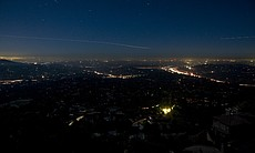 The view of a darkened East County from the top...
