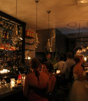 Jayne's Gastropub in San Diego is lit by candlelight during the blackout on Sept. 8, 2011.