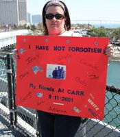 Kelly Crittle of Ocenside lost several friends in the 9/11 attacks.