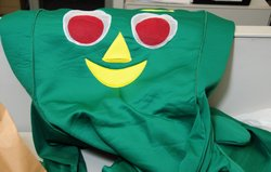 "The costume used by the ""Gumby Bandit"" in an attempted robbery of a 7-Eleven convenience store."