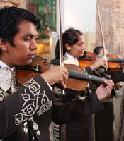 Mariachi Juvenil San Diego performing at the San Diego Museum of Man for Mexican Independence Day celebration