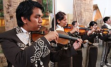 Mariachi Juvenil San Diego performing at the Sa...