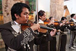 Mariachi Juvenil San Diego performing at the San Diego Museum of Man for Mexi...