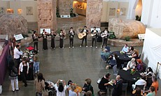 Dozens of visitors at San Diego Museum of Man for Viva Mexico!, a Mexican Independence Day celebration.