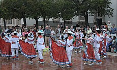 Flokloric dancers performed throughout the night at Viva Mexico!