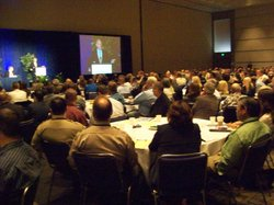 The governor spoke to a room full of sheriffs, probation chiefs and other pub...