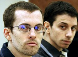 Shane Bauer (l.) and Josh Fattal were sentenced to 8 years in prison as 'spie...