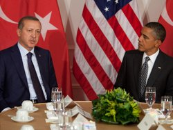 President Obama meets with Turkish Prime Minister Recep Tayyip Erdogan on Tue...