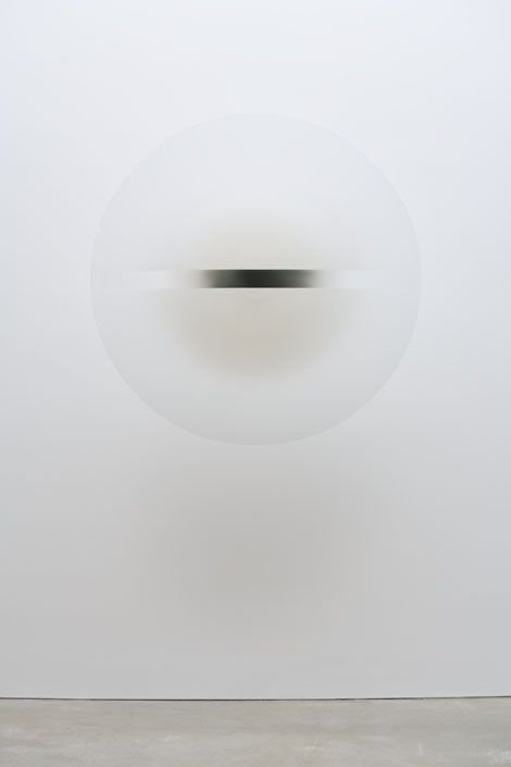 Robert Irwin , Untitled, 1969, acrylic lacquer on formed acrylic plastic, overall dimensions: 53 in. diameter x 3 in. deep., Collection Museum of Contemporary Art San Diego, Museum purchase.