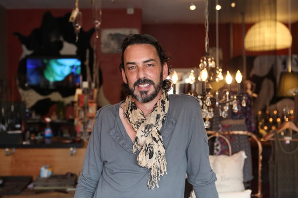 Designer and Art of Fashion participant Jeffrey Parish in his South Park retail and gallery space Junc Boutique.