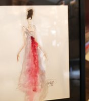 A sketch of Jeffrey Parish's design for the upcoming Art of Fashion event at the Timken Museum of Art.