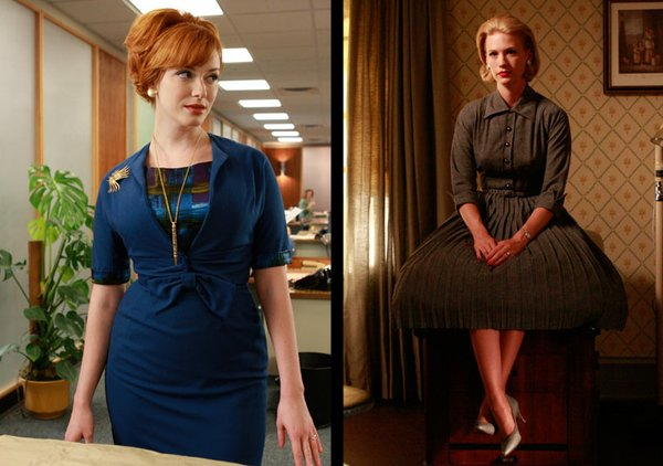 "Women and fashion from AMC's ""Mad Men."""