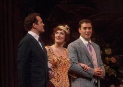 "Russell Braun as the poet Olivier, Sarah Connolly as Clairon and Joseph Kaiser as the composer Flamand in ""Capriccio."""