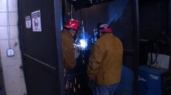 Welding class at the Center For Employment Training in Grant Hill
