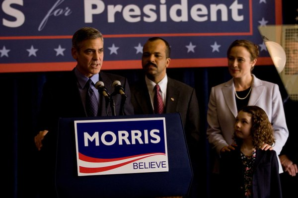 "George Clooney is a presidential hopeful in ""The Ides of March."""