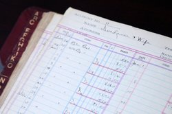 This 1915 ledger seems to record the payroll for Native Americans who acted i...