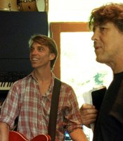 (l to r): Matt Cameron and Cameron Crowe in Matt's home practice studio.