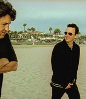 (l to r): Cameron Crowe and Mike McCready in Long Beach.