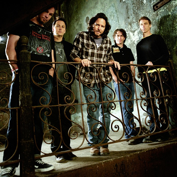 Pearl Jam (l to r): Jeff Ament, Mike McCready, Eddie Vedder, Stone Gossard, and Matt Cameron.