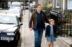 Jason Isaacs as Jackson Brodie and Millie Innes as Marlee Brodie, his 8-year-...
