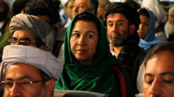 Afghan parliamentarian Shinkai Karokhail at the peace jirga in Kabul on June ...