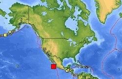 A magnitude-6.5 quake was centered 206 miles (333 kilometers) south-southeast of Cabo San Lucas and 141 miles (227 kilometers) from Socorro Island.