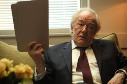 "Michael Gambon as Benedict Baron in ""Page Eight."""