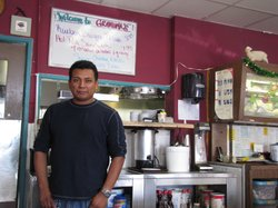 Faustino Hernandez came from Mexico as a teenager. Now in his 30s, he owns the diner in Oceanside, CA where he started working as a dishwasher.