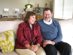 Ina and Irwin Rubinstein in their apartment at Vi, La Jolla