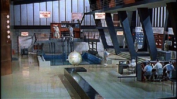 "The finished set for ""Dr. No."""