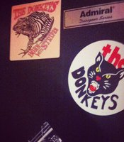 The Donkeys stickers—from striped frogs to black panthers.