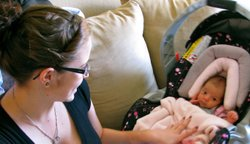 Jeanne Watson and her baby Lilah, who was born in October 2011. Watson says s...