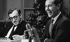 Woody Allen and Johnny Carson.