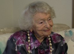 Laura Simon, one of the oldest living authors with a book in the Library of C...