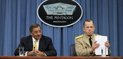 U.S. Secretary of Defense Leon Panetta (L) and Chairman of the Joint Chiefs o...