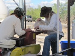 Desert Harvesters owns a community mill to grind mesquite pods into flour.
