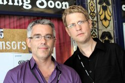 Producer/director Andy Abrahams Wilson and producer/editor Tom Shepard at a s...