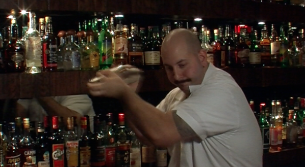 Bartender and manager of Noble Experiment, Anthony Schmidt.