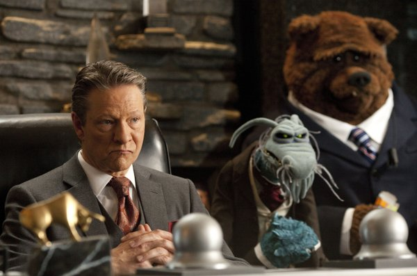 "Chris Cooper is the villain in ""The Muppets."""