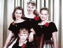 The Lennon Sisters as young girls: Janet, Kathy, Diane and Peggy.
